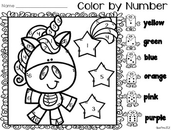 Color by Number: Number ID (Animals)