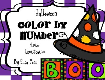 Color by Number: Number Identification: Halloween