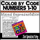 Color by Number:  Numbers 1-10:  Mixed Themes - Distance Learning