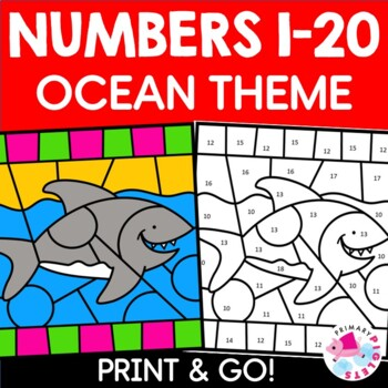 Color by Number Ocean Math Mystery Pictures