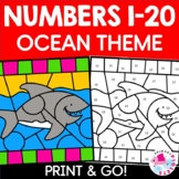 Color by Number Ocean Habitat Set