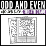 Odd and Even Color-by-Number Worksheets