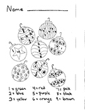 Color by Number Christmas Ornaments