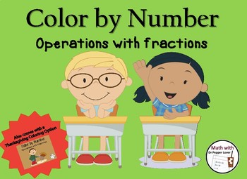 Color by Number :  Operations with Fractions