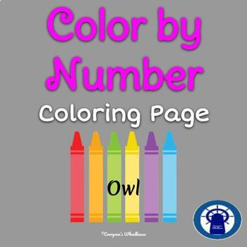 Color by Number Practice (Owl)