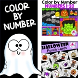 Color by Number & Punch Cards Halloween Fun BUNDLE