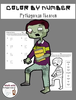 Zombie Color by Number:  Pythagorean Theorem