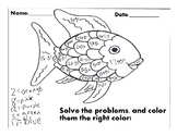 Color by Number Rainbow Fish (single digit adding)