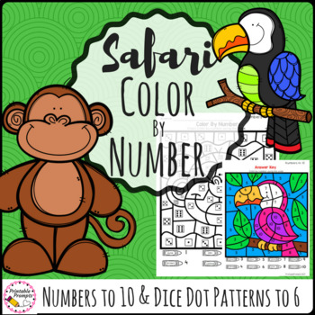 Color by Number- Safari