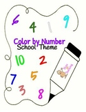 Color by Number - School Theme