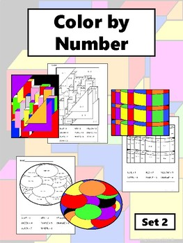 Color by Number Set 2 – English Color by Number Worksheets