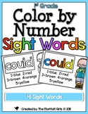 Color by Number Sight Words (1st Grade Edition)