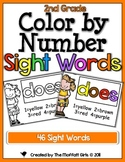 Color by Number Sight Words (2nd Grade Edition)