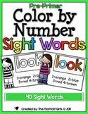 Color by Number Sight Words (Pre-Primer Edition)
