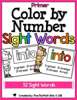 Color by Number Sight Words (Primer Edition)