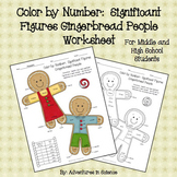 Color by Number:  Significant Figures Gingerbread People Worksheet