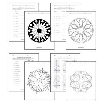 Color by Number Skills Bundle: 20 Essential Algebra Skills