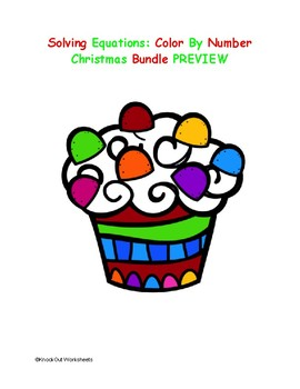 Color by Number Solving Equations Christmas Bundle!
