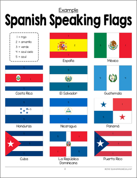 on spanish speaking countries blank map of 2 sided