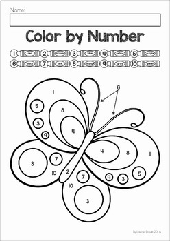 Color by Number Spring by Lavinia Pop Teachers Pay Teachers