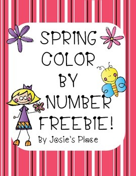 Color by Number Spring FREEBIE