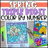 Color by Number Spring Mystery Pictures: Triple Digit Addition & Subtraction