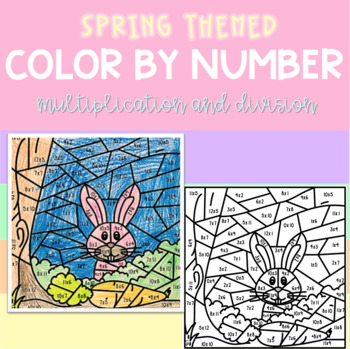 Color by Number - Spring themed
