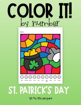 Color by Number: St. Patrick's Day