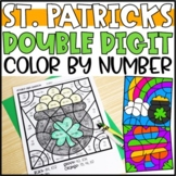 Color by Number St. Patrick's Day Math | Double Digit Addition & Subtraction