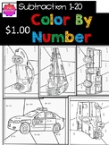Color by Number Subtraction From 20 Pack
