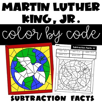 Color by Number Subtraction Martin Luther King Jr.