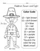 Thanksgiving Math Practice Addition Color by Number
