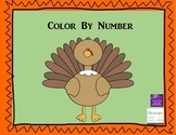 Color by Number Turkey