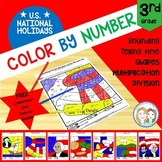 Color by Number - U.S. National Holidays - 3rd Grade