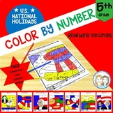 Color by Number - U.S. National Holidays - 5th Grade