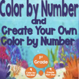 Math Color by Number Addition and Subtraction 1st Grade Ocean Animals Coloring