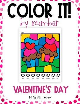Color by Number Valentine's Day