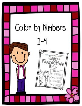 Color by Number - Valentine's Day