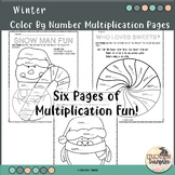 Color by Number Winter Multiplication