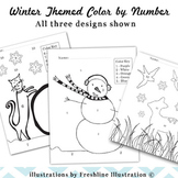 Color by Number, Winter Themed, Number and Color Learning