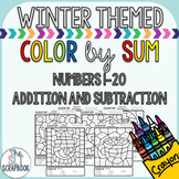 Color by Number- Winter themed- No Prep- Color by Sum - Ad