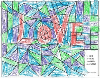 "Color by Number Word and Sight Words - ""LOVE"""