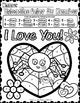 Color by Number Worksheets - Ready to Print and Go! Valentine Love Bugs Theme