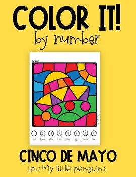 Color by Number for Cinco de Mayo