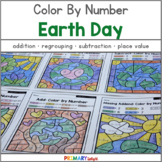 Color by Number for Earth Day: Addition, Subtraction and Place Value