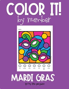 Color by Number for Mardi Gras