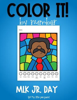 Color by Number for Martin Luther King Day