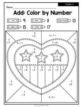Color by Number: 4th of July {Addition, Subtraction, and Fractions}