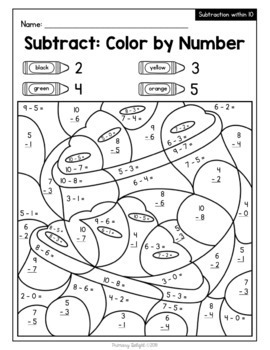 color by number for st patricks day addition and subtraction - St Patricks Day Pictures To Color 2