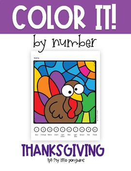 Color by Number for Thanksgiving